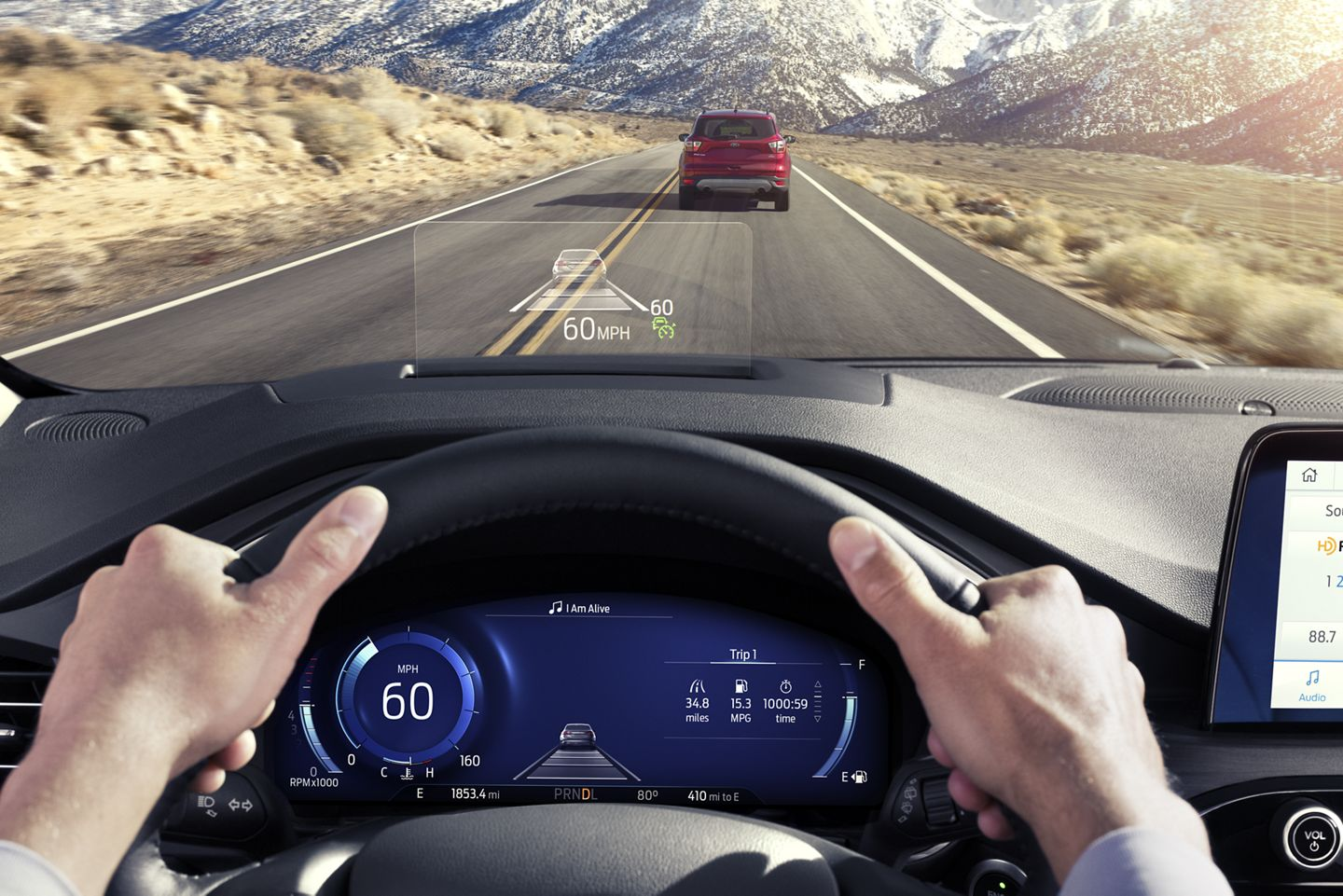 Head-Up Display in the 2020 Escape