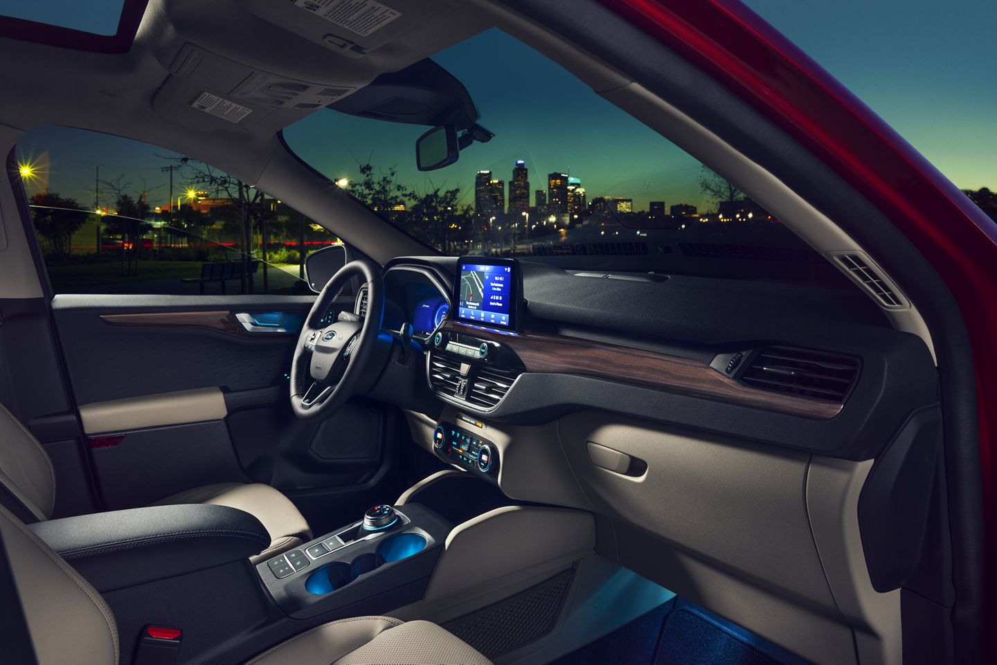 Interior of the 2020 Escape