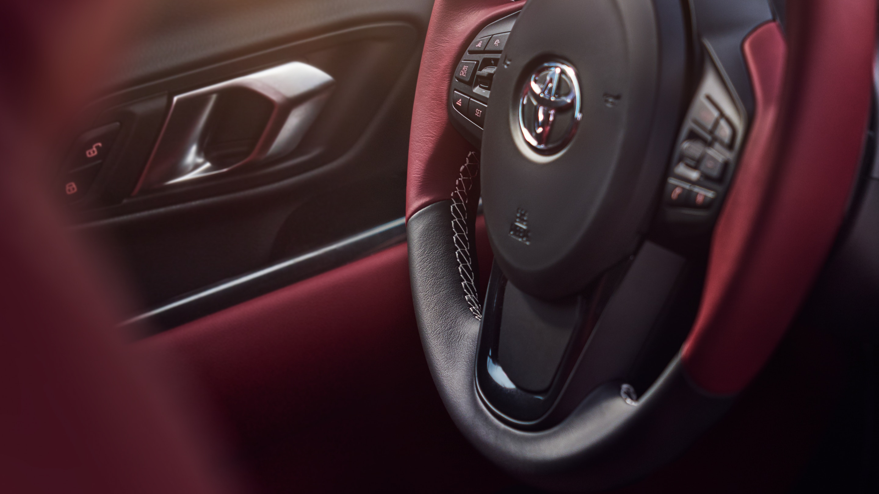 2020 Supra Leather-Wrapped Steering Wheel