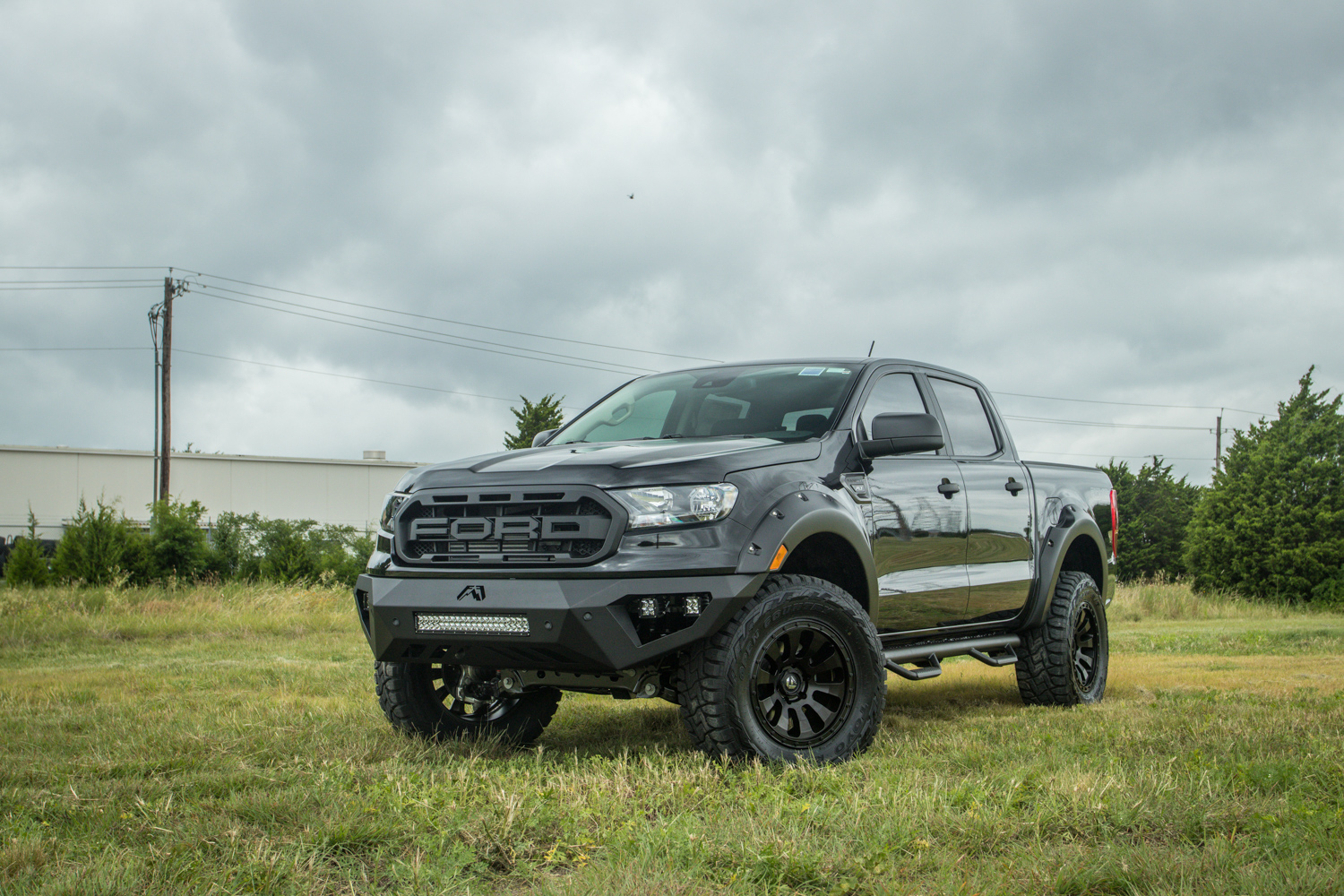 New Ford Ranger 4x4 Lifted With Raptor Style Grill And