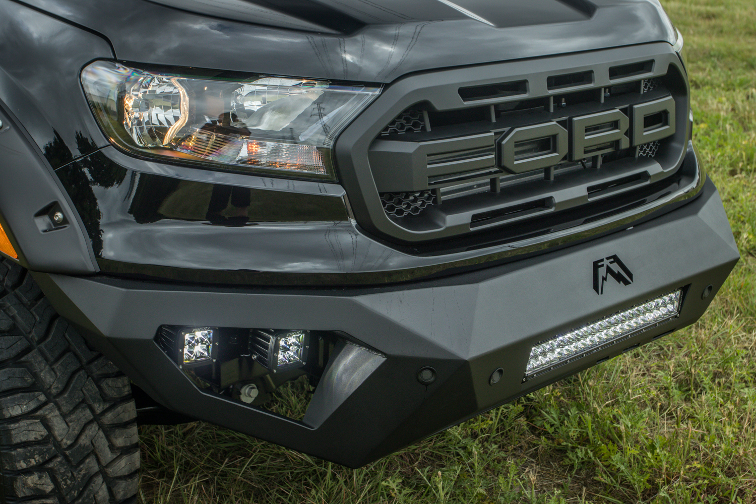 New Ford Ranger 4x4 Lifted With Raptor Style Grill And Fabfours Bumper