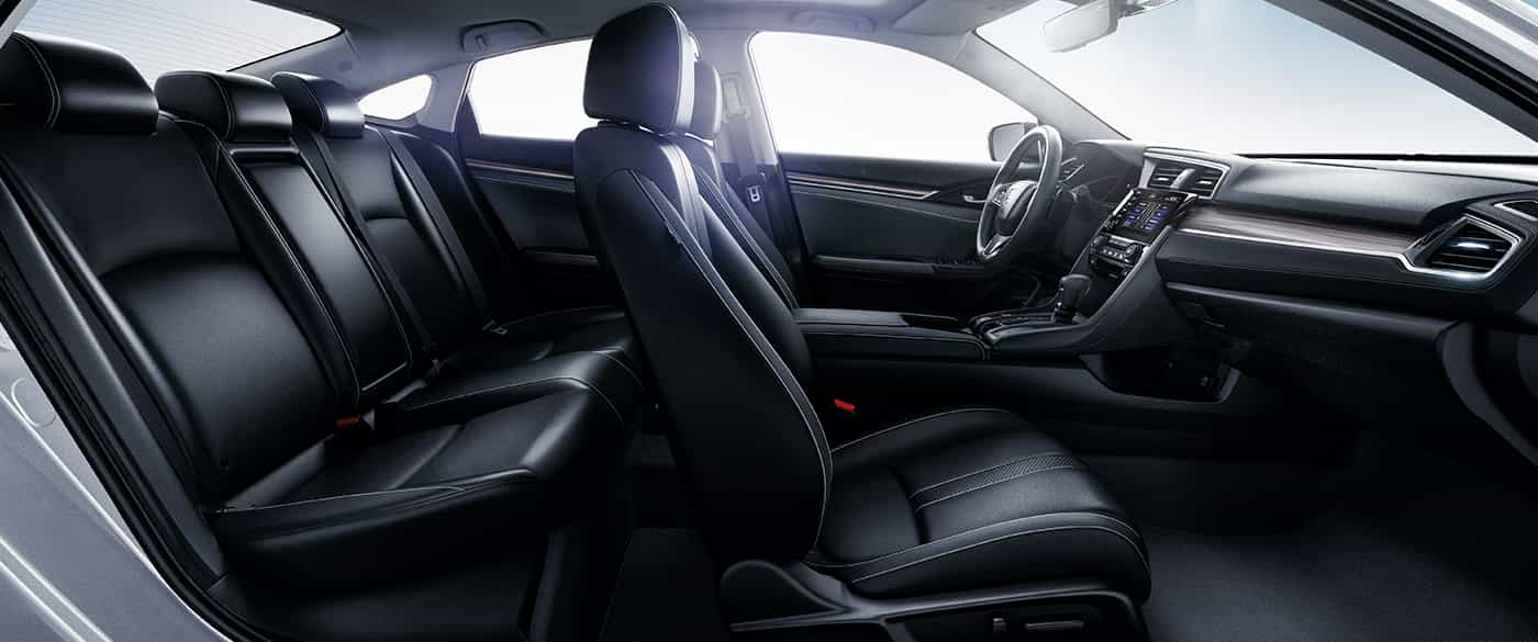 Leather Upholstery in the 2019 Honda Civic