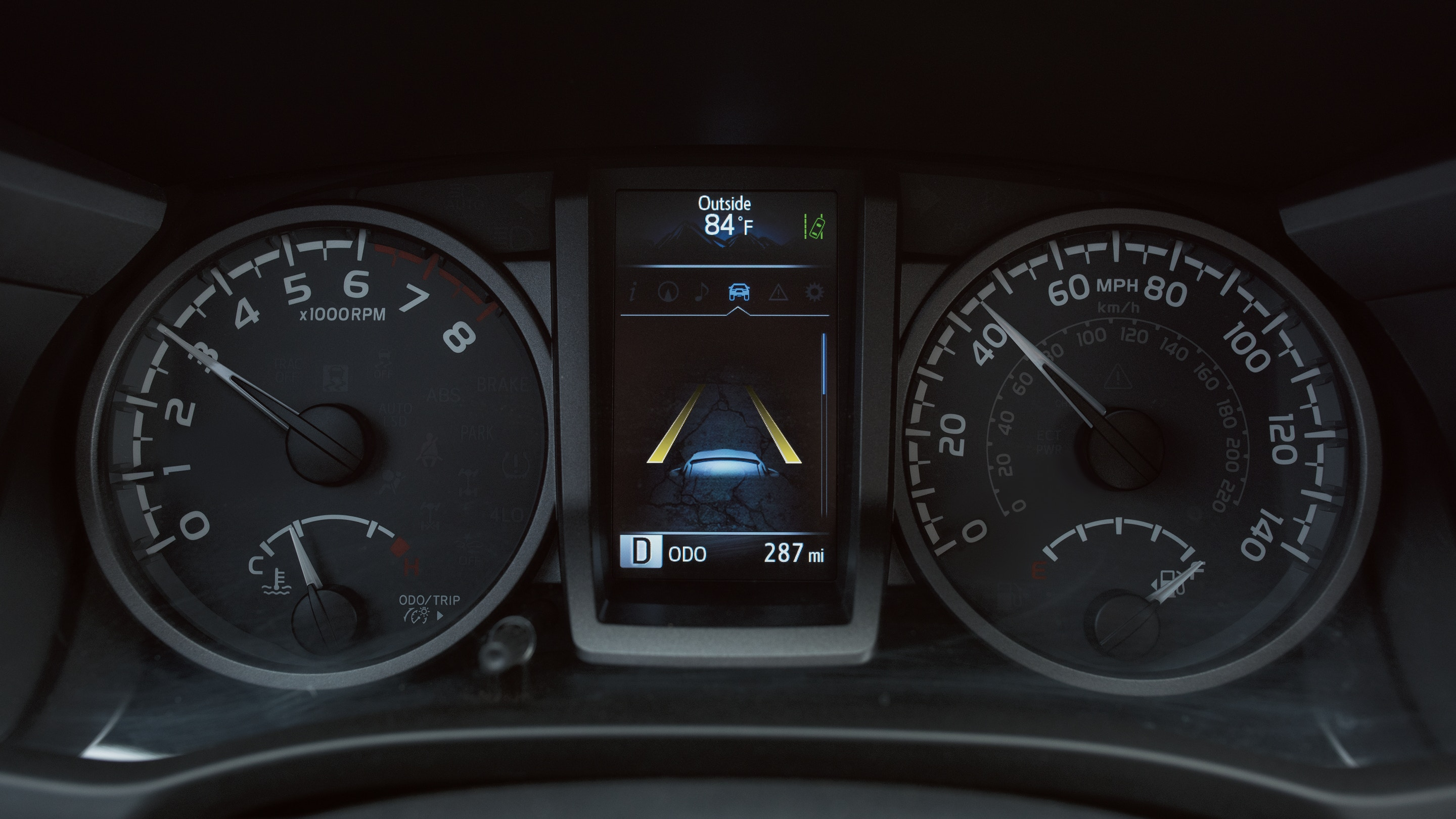 Instrument Panel in the 2019 Tacoma