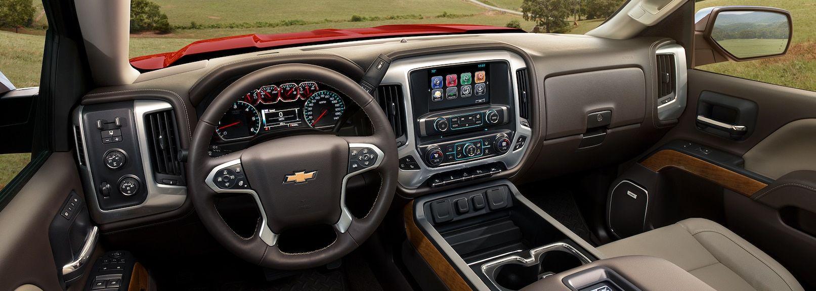 Interior of the 2019 Silverado 1500