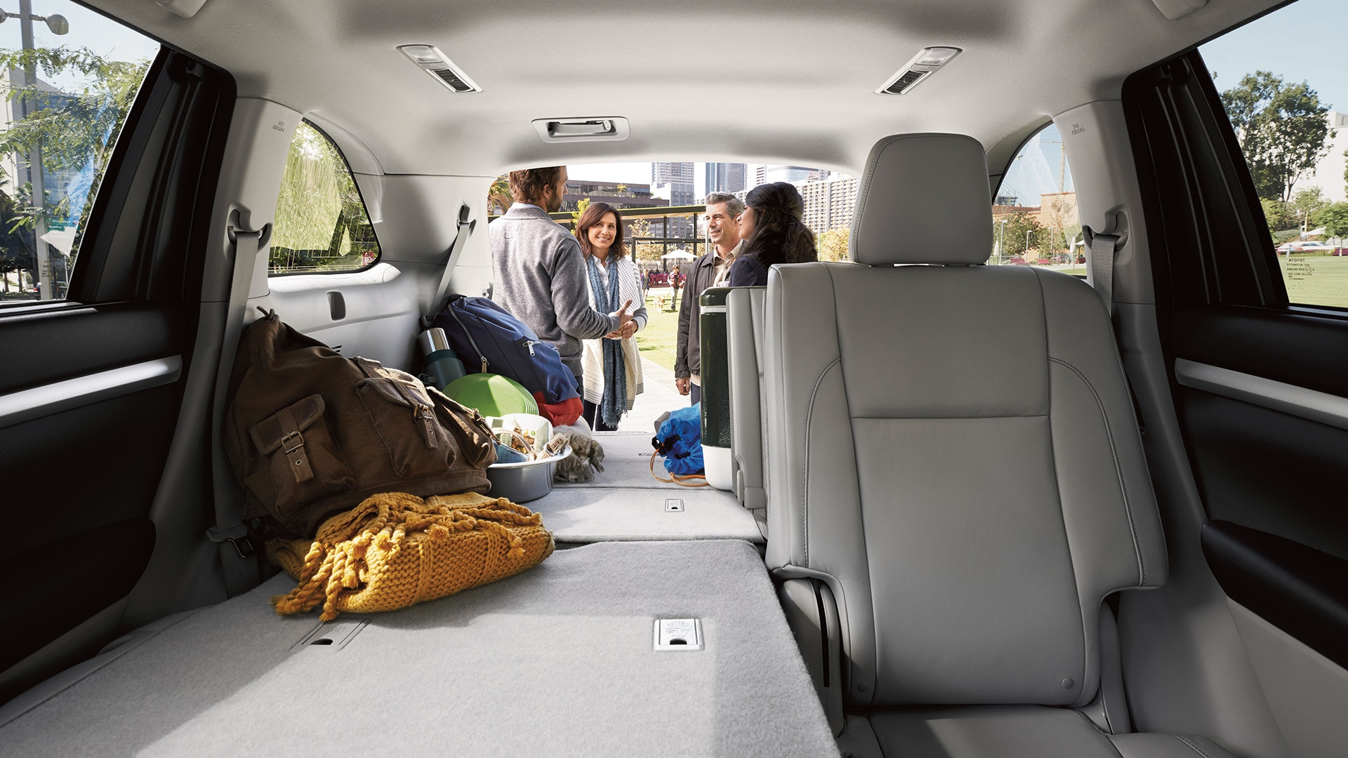 Plenty of Storage Room in the 2019 Highlander