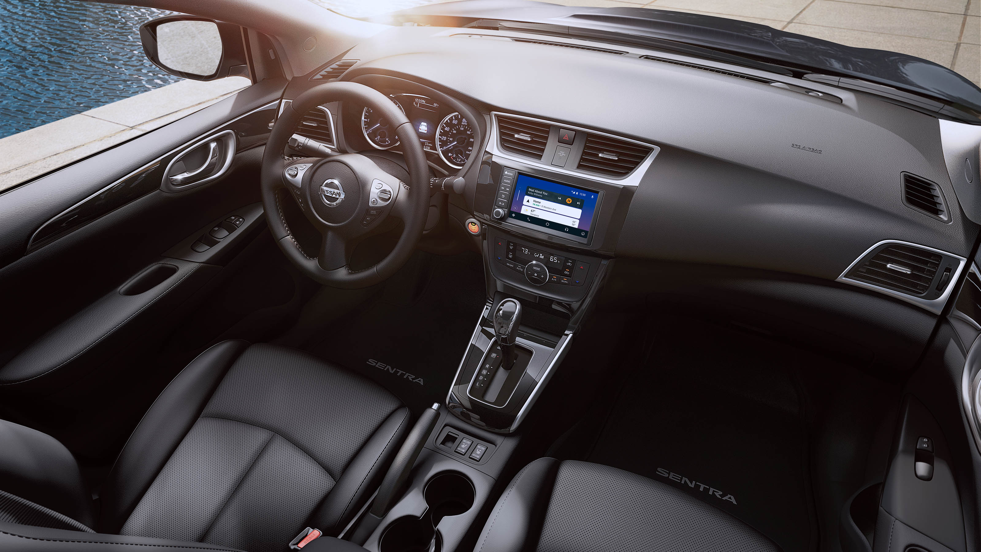 Interior of the 2019 Nissan Sentra