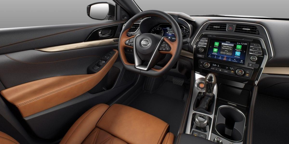 Interior of the 2019 Nissan Maxima