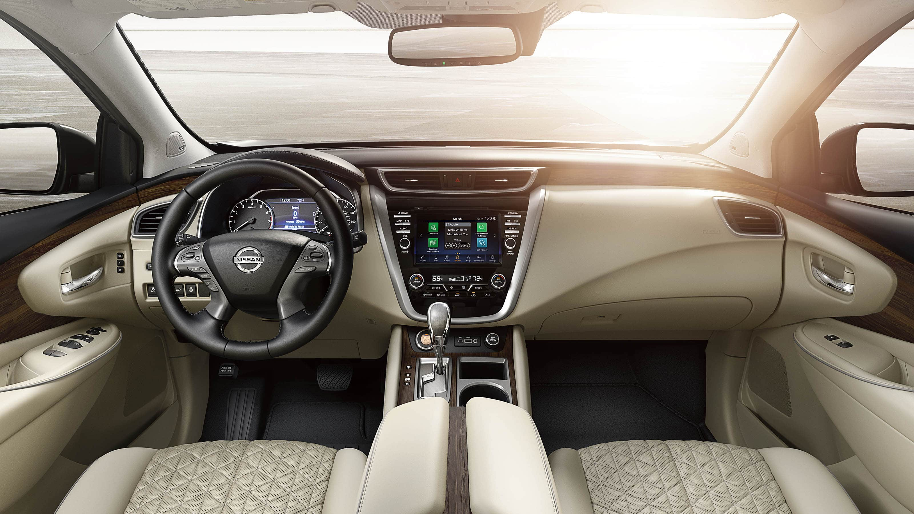 Interior of the 2019 Nissan Murano