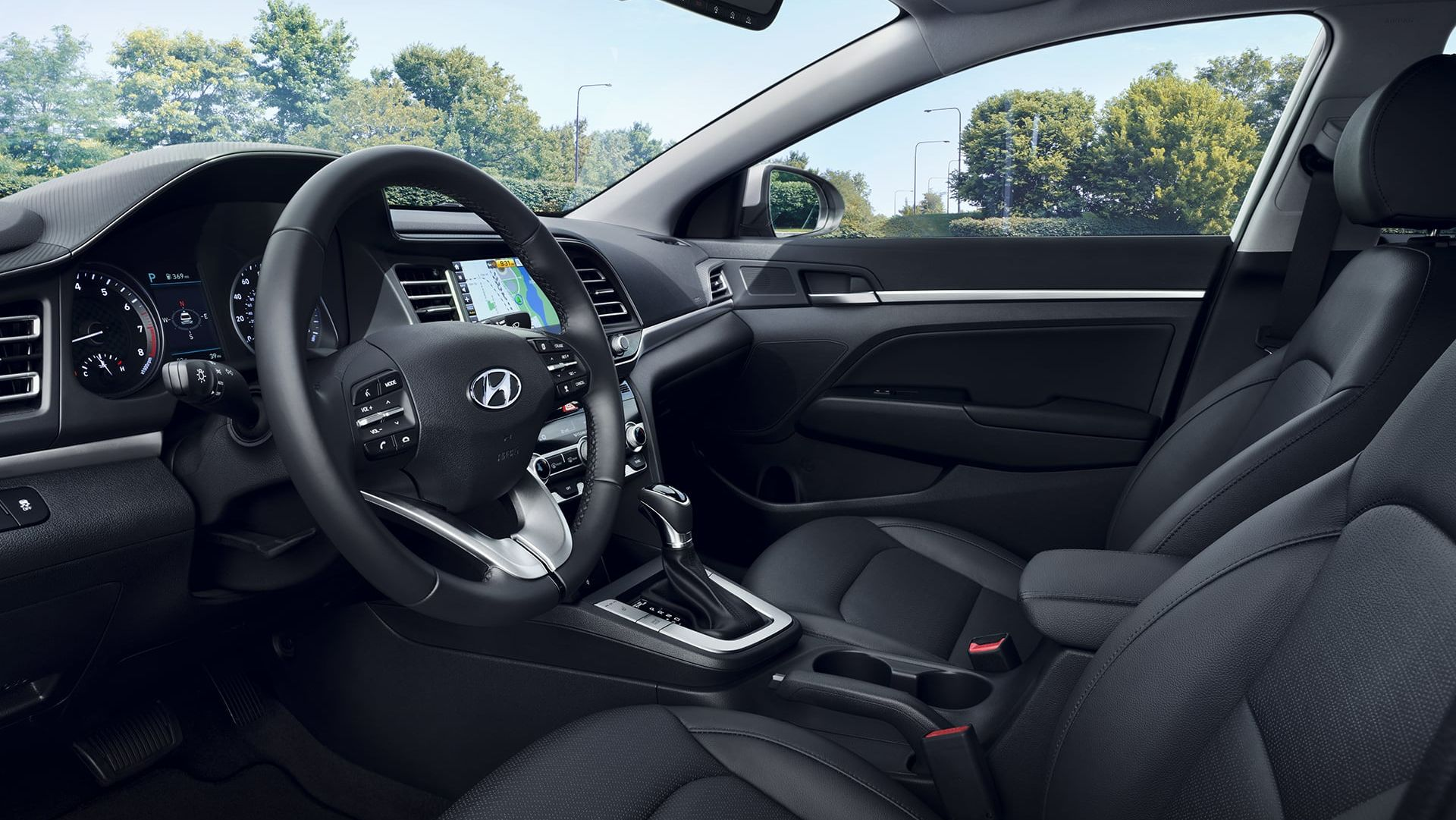 Accommodating Cabin of the 2020 Elantra