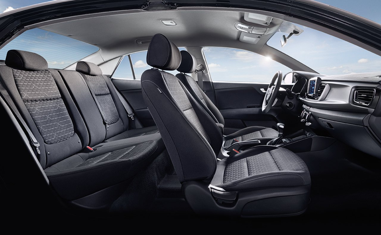 Interior of the 2019 Kia Rio