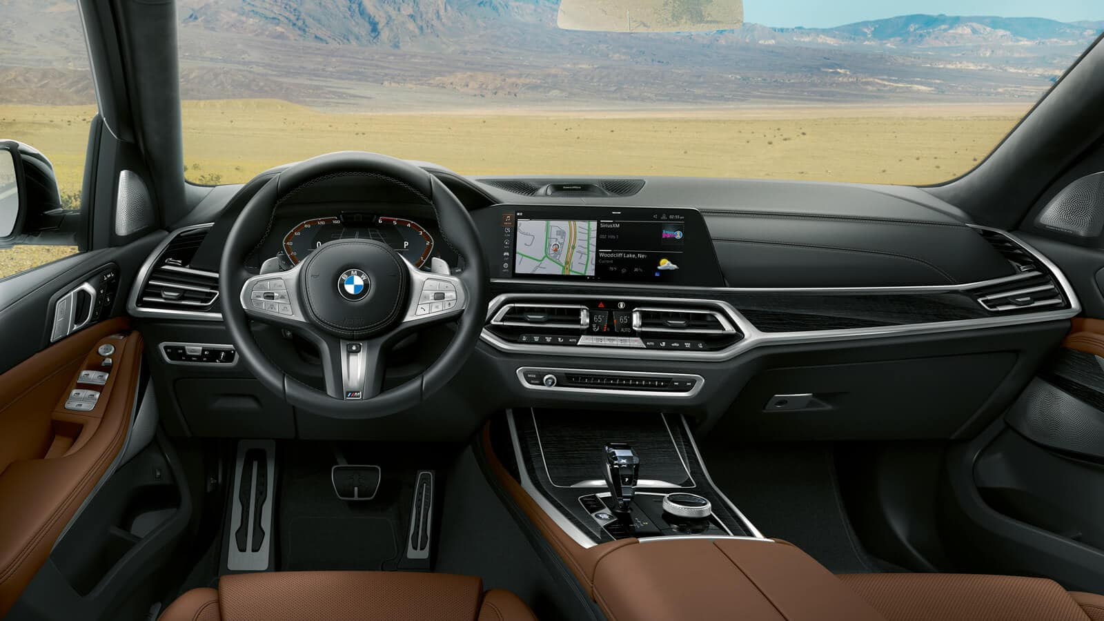 Interior of the 2019 BMW X7