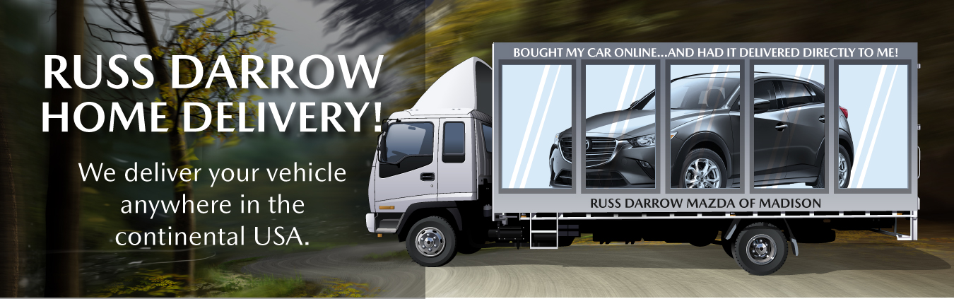 Russ Darrow Home Delivery | We deliver your vehicle anywhere in the continental USA.