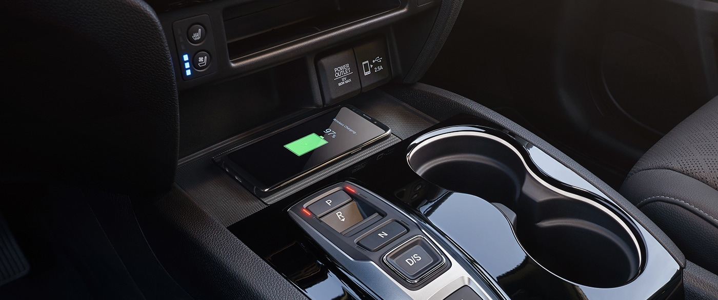 Wireless Charger in the 2019 Honda Passport