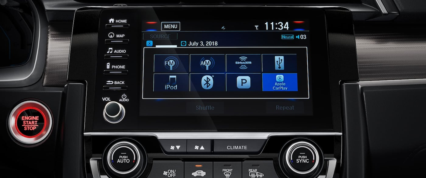 Touchscreen Display in the 2019 Civic