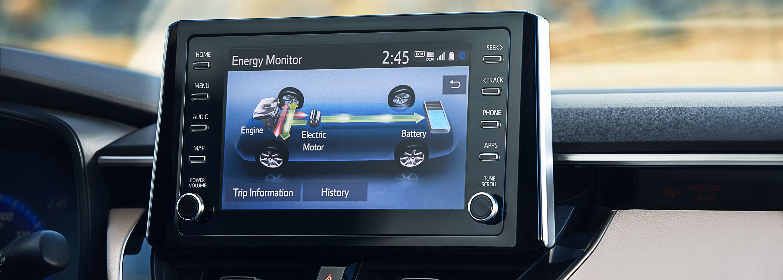 Touchscreen Display in the 2020 Corolla Hybrid