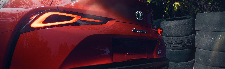 Stylish Rear Spoiler of the 2020 Supra