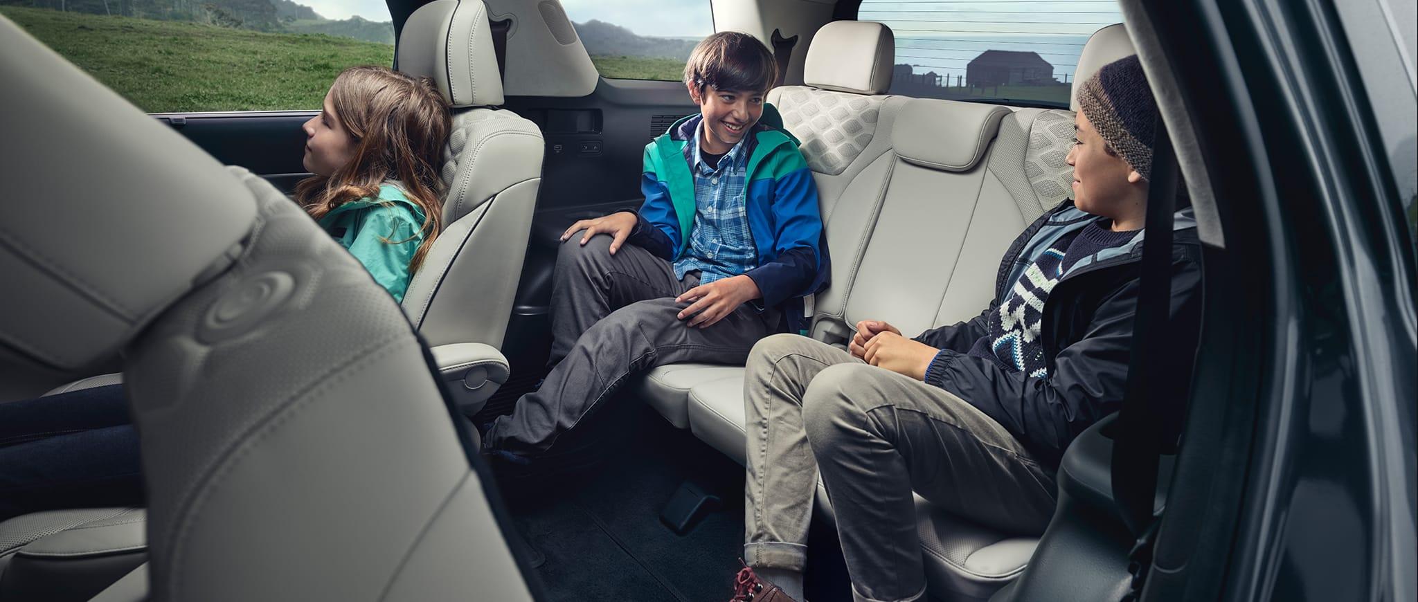 Confort asegurado en las tres hileras de asientos.