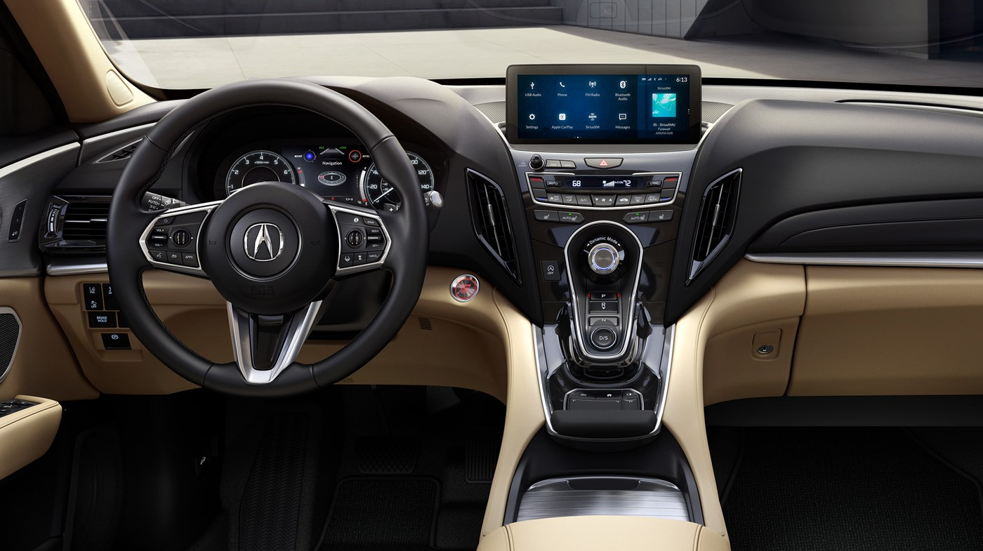 Interior of the 2020 RDX