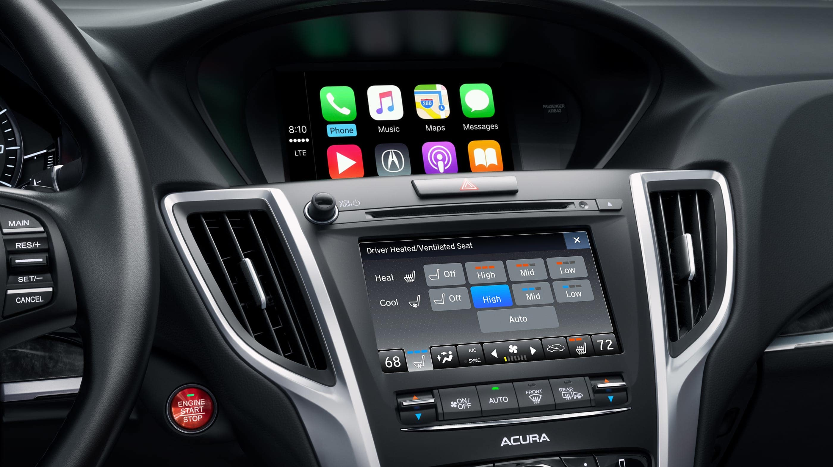 Touchscreen in the 2020 TLX