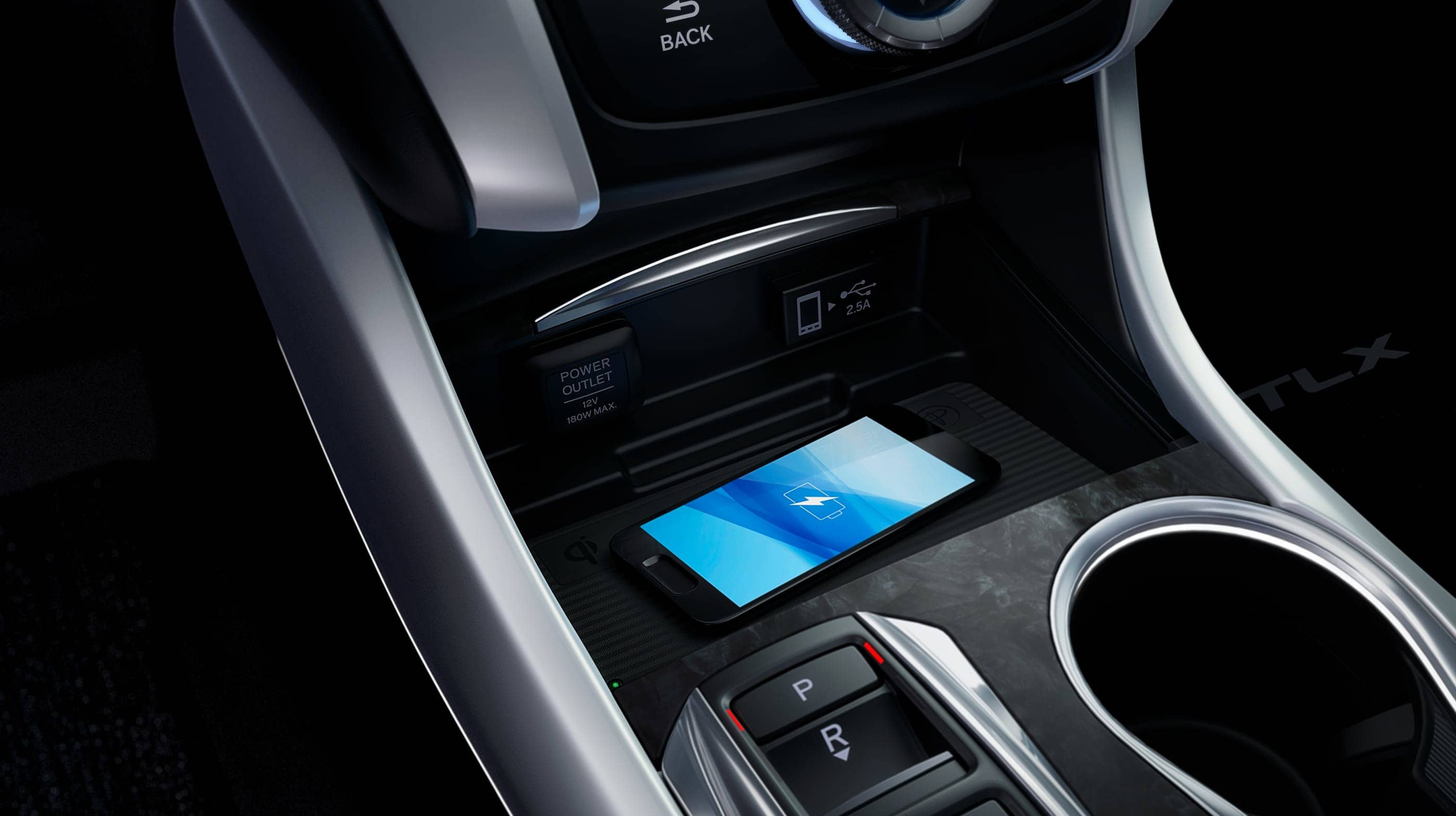 Wireless Charger in the 2020 TLX