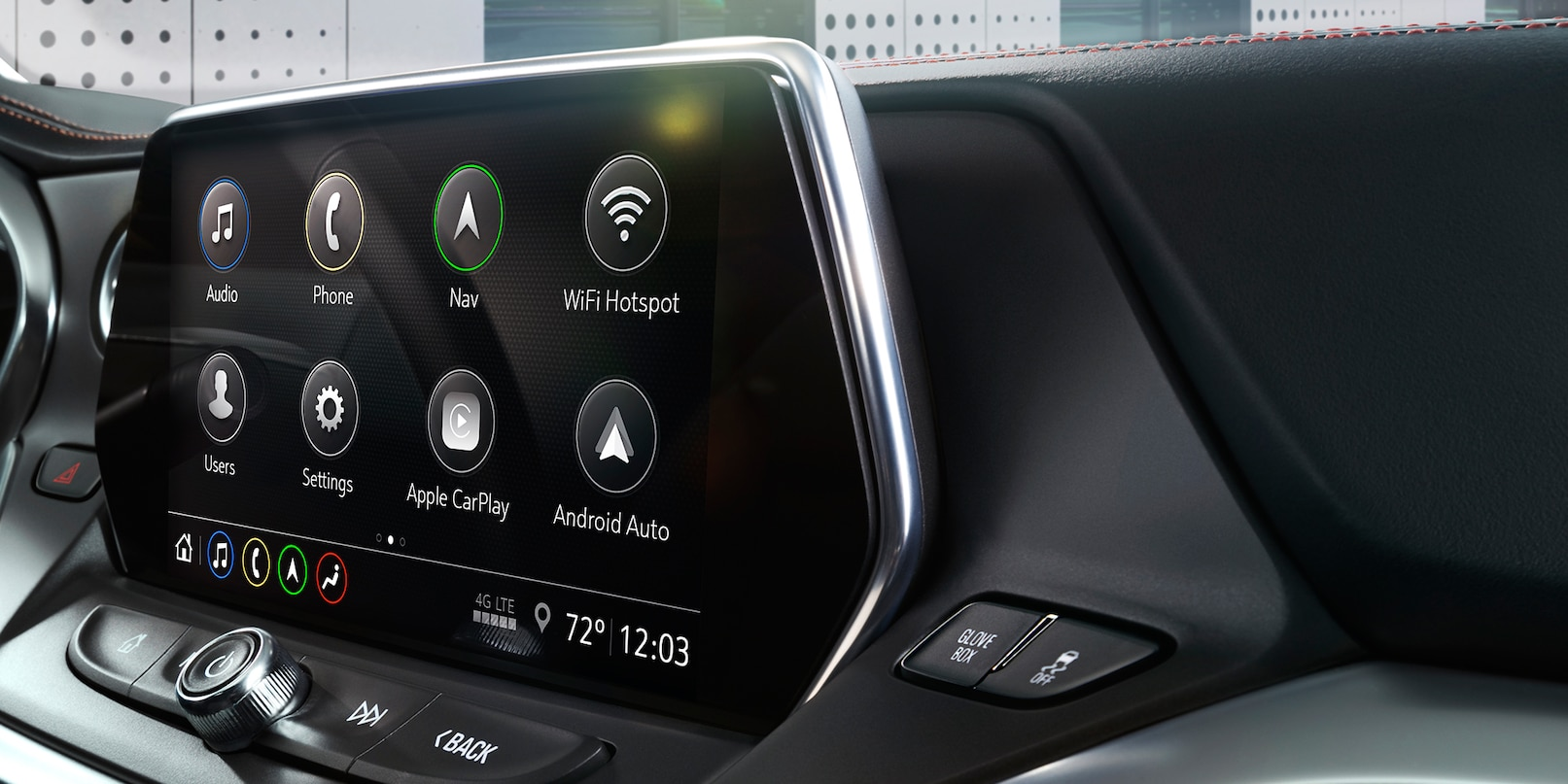 Touchscreen Display in the 2019 Blazer