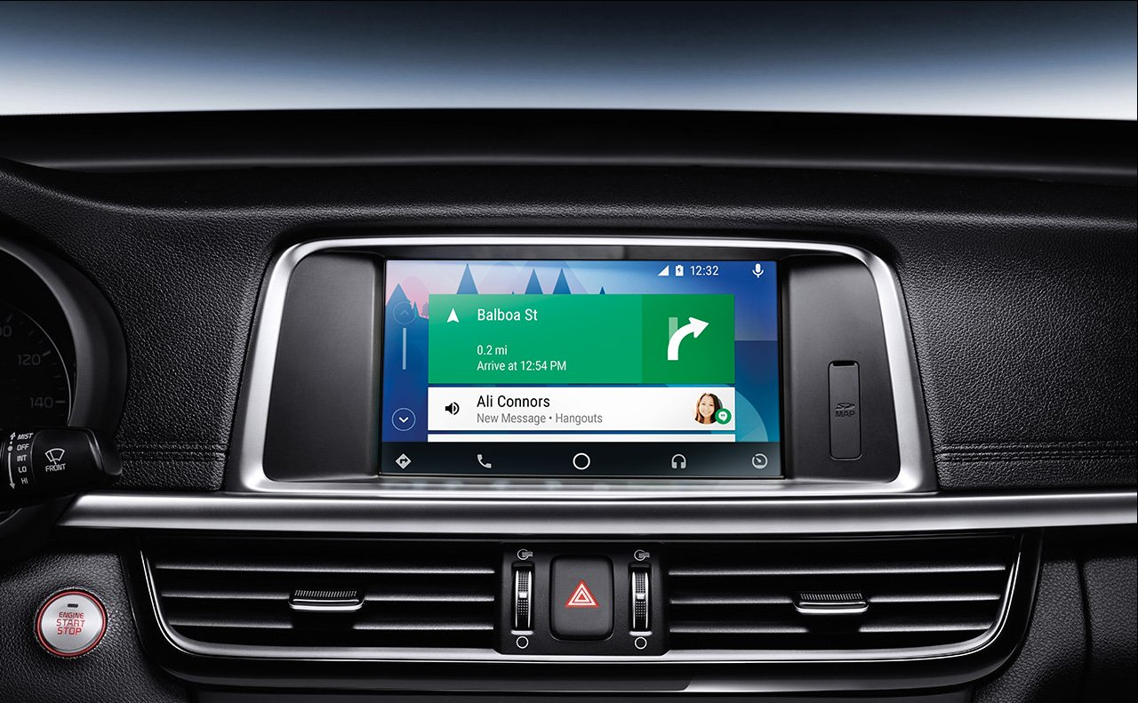 Android Auto™ in the 2019 Optima