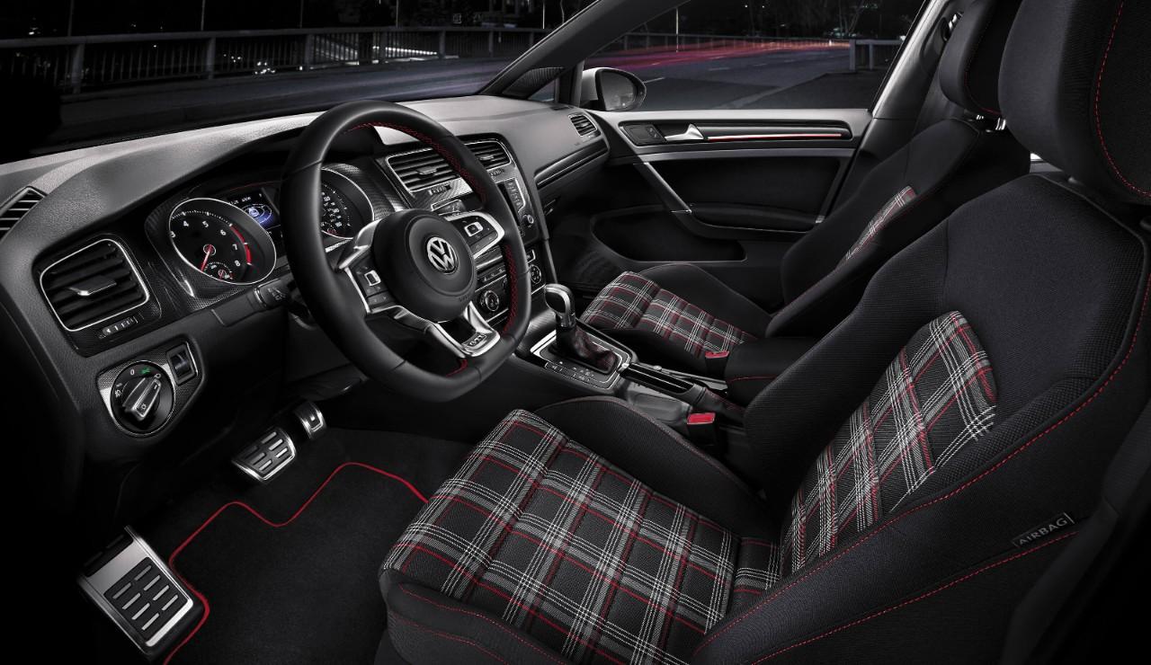 Plaid Golf GTI Interior