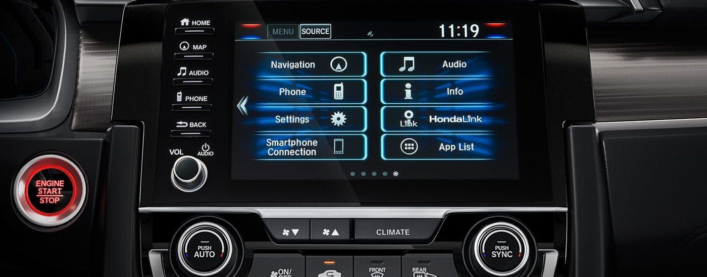 Infotainment Hub in the 2019 Civic