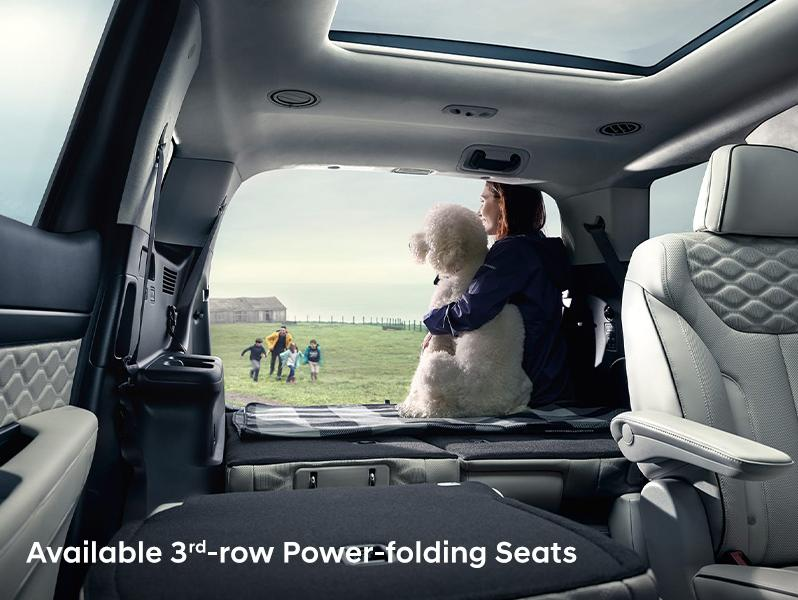 folding-seats in 3rd row of 2020 Hyundai Palisade