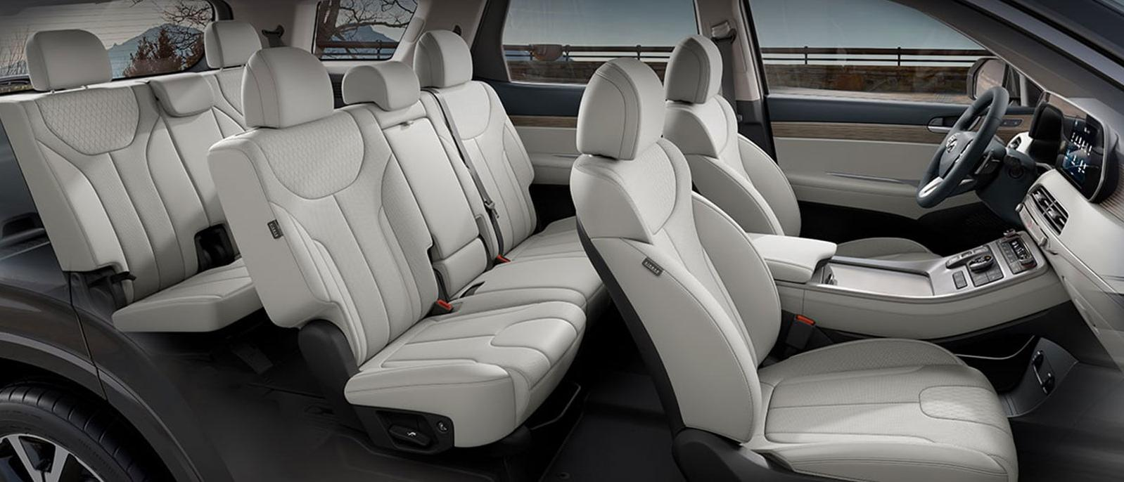 interior of 8-passenger 2020 Hyundai Palisade