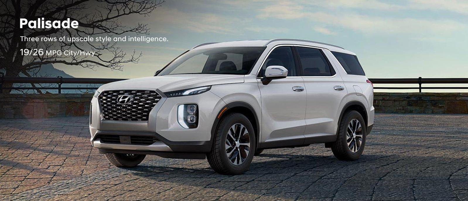 2020 Hyundai Palisade with 3 rows of upscale style and intelligence