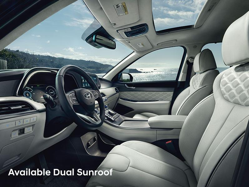 Hyundai Palisade with dual sunroof
