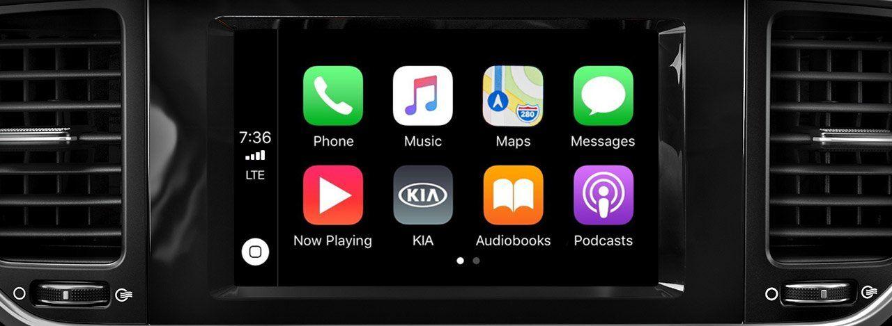 Standard Apple CarPlay™ in the 2020 Sportage