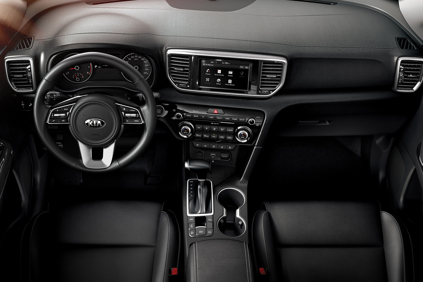 Spacious Front Row of the 2020 Sportage