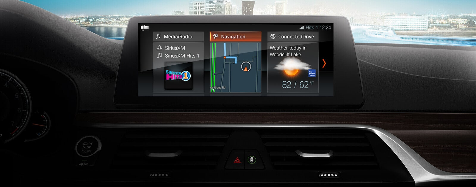 Standard Navigation in the 2019 BMW 5 Series