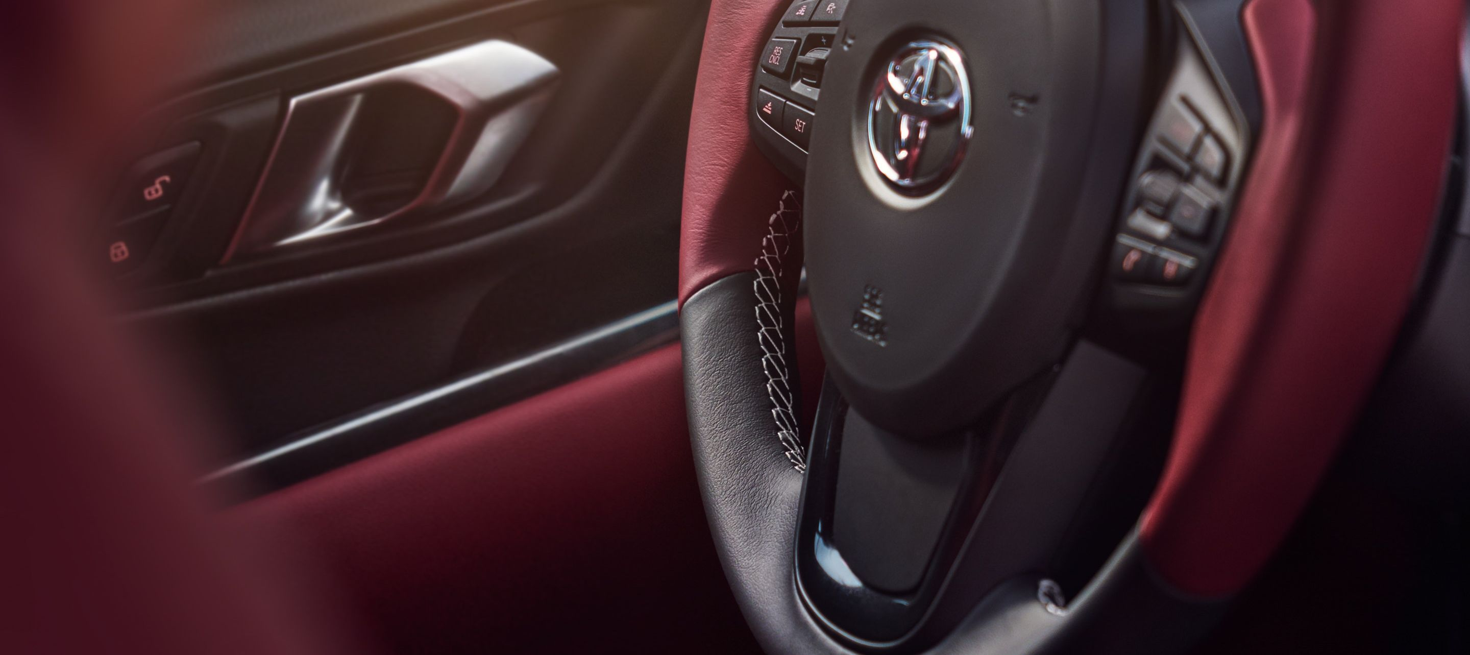 Red-Accented Cabin of the 2020 Toyota Supra