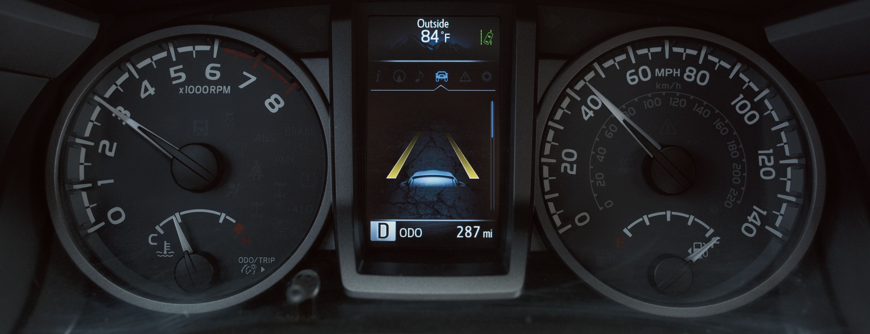 Instrument Panel of the 2019 Toyota Tacoma