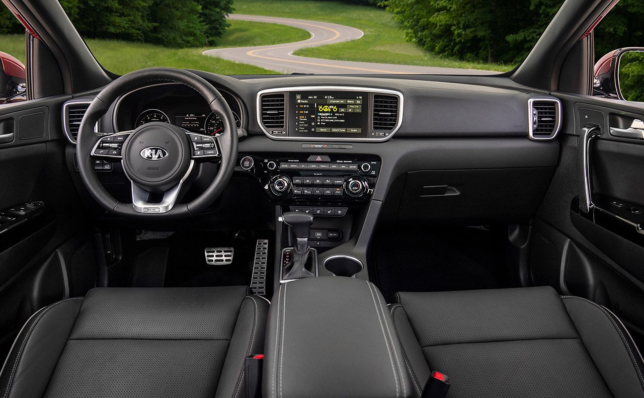 Interior of the 2020 Kia Sportage