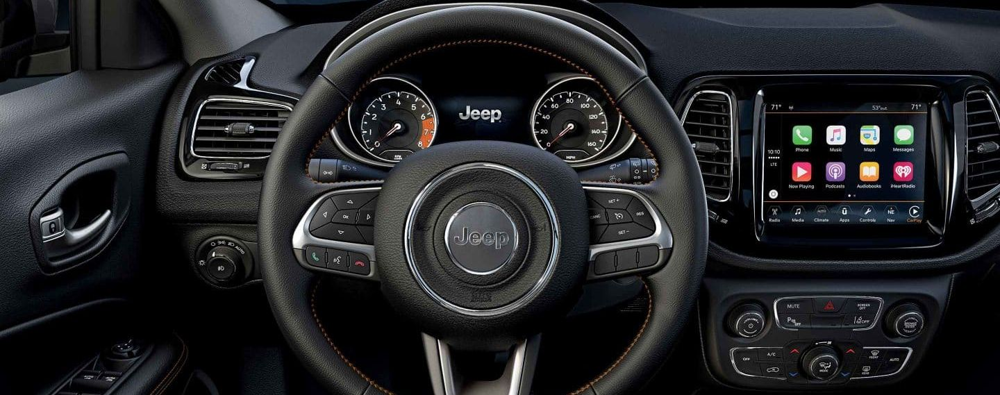 2019 Compass Leather-Wrapped Steering Wheel