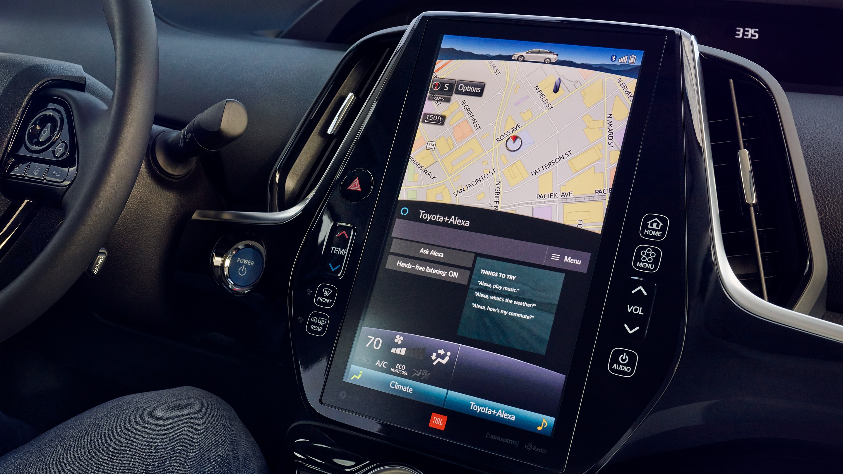 Touchscreen in the 2020 Prius Prime