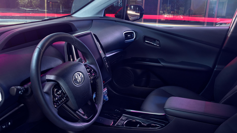 Interior of the 2020 Toyota Prius Prime