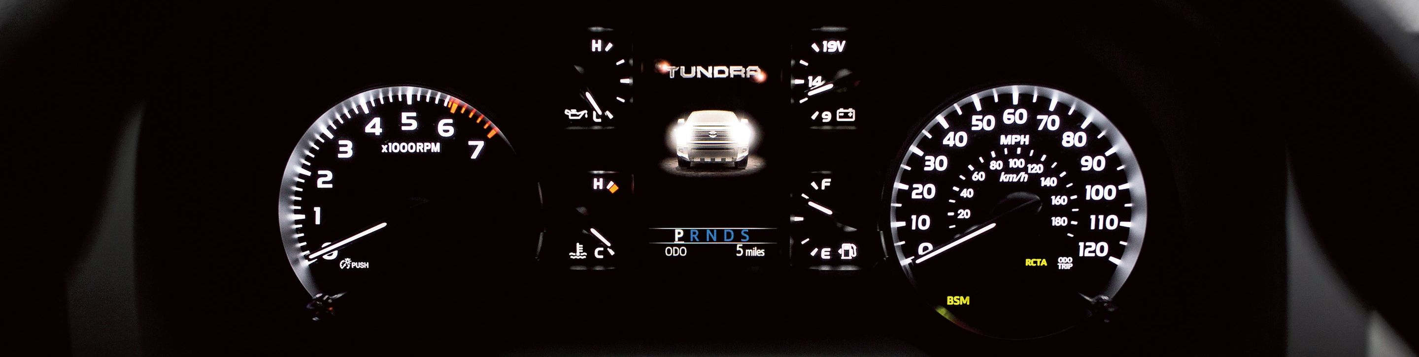 Dashboard of the 2020 Tundra