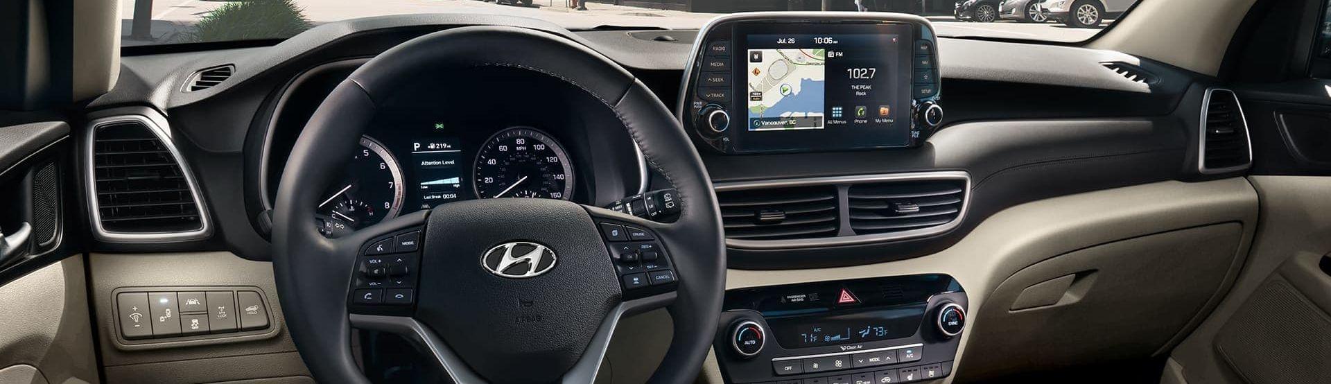 2019 Hyundai Tuscon Center Stack