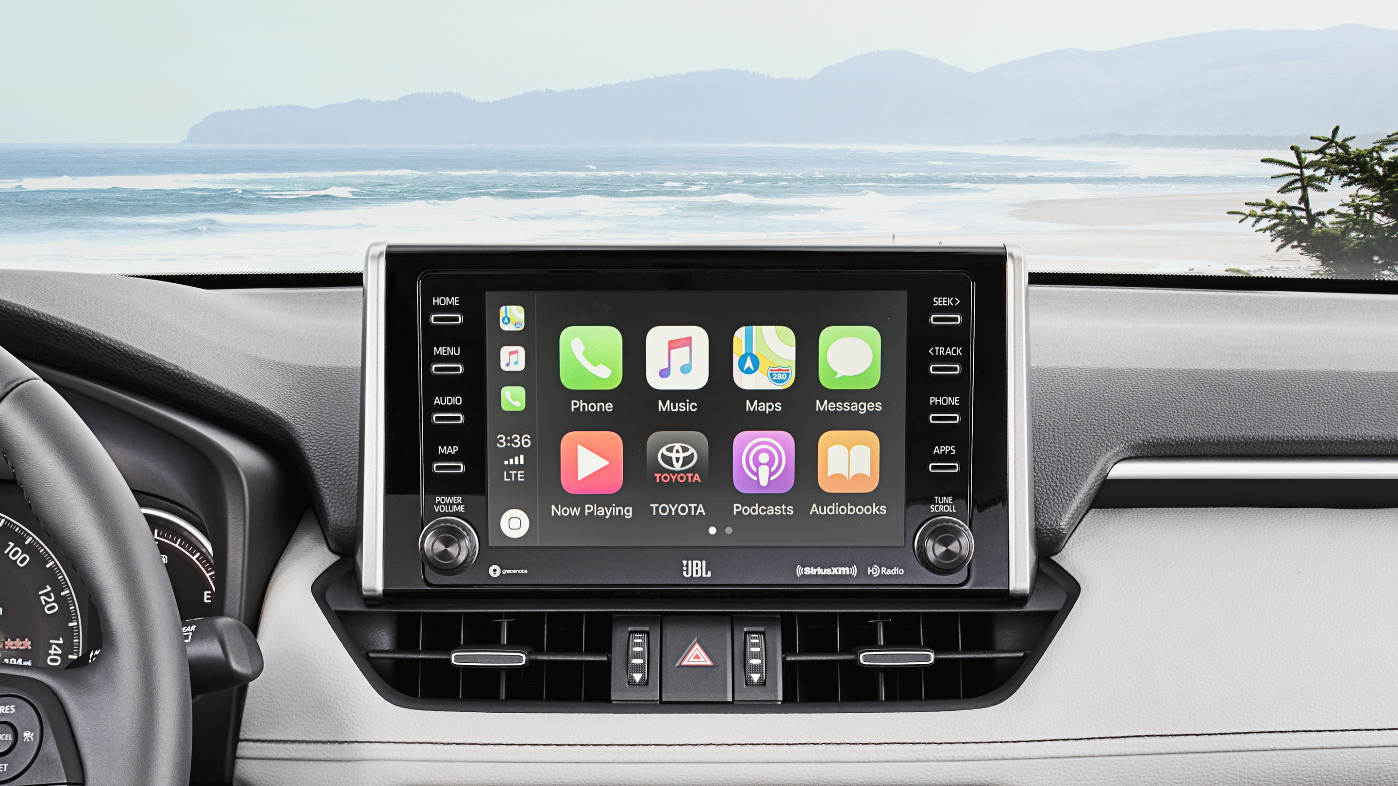 Touchscreen of the 2019 RAV4