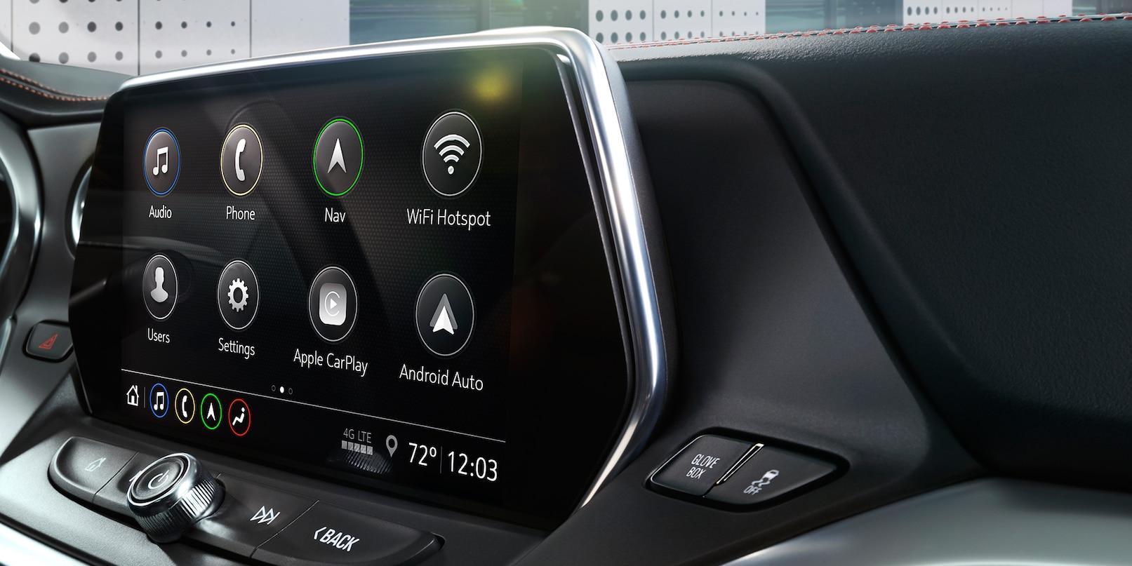 Touchscreen in the 2019 Blazer