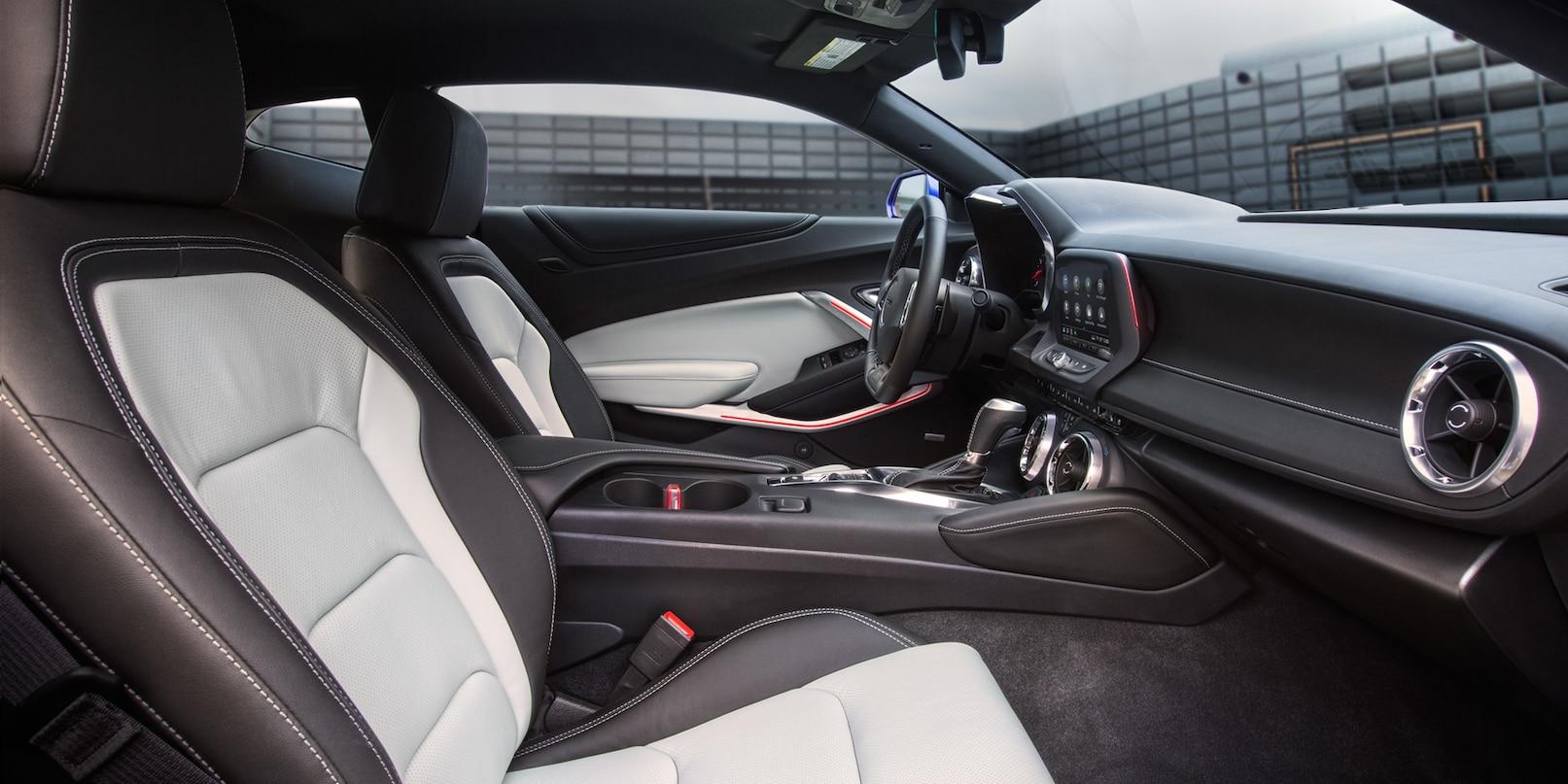 Interior of the 2019 Camaro