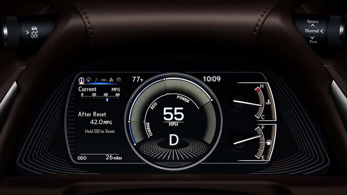 Instrument Panel in the 2019 ES 300h