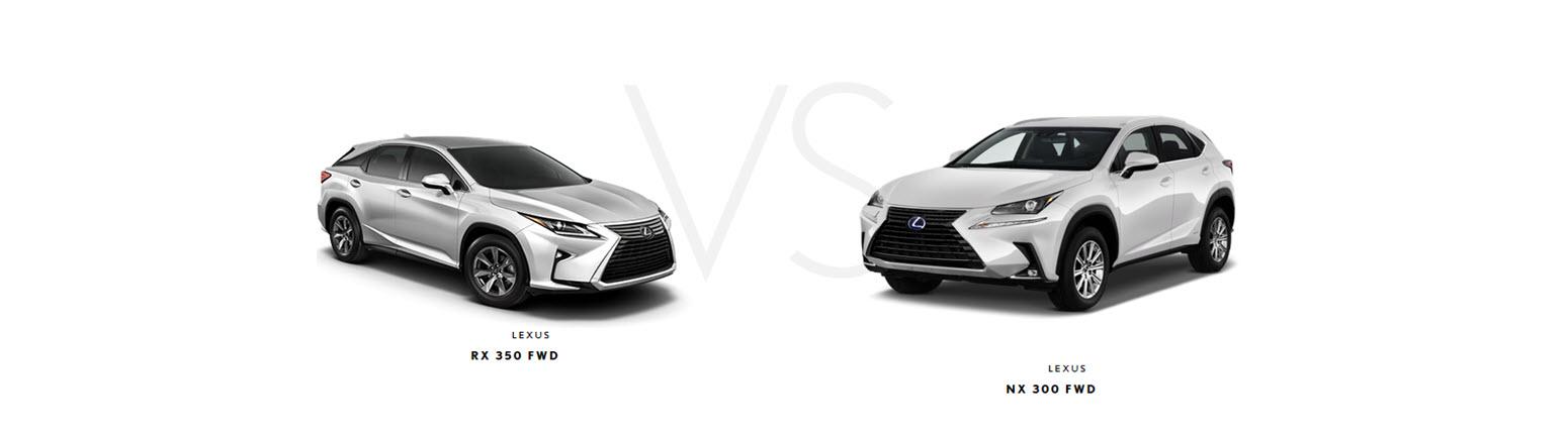 Lexus RX350 vs NX300