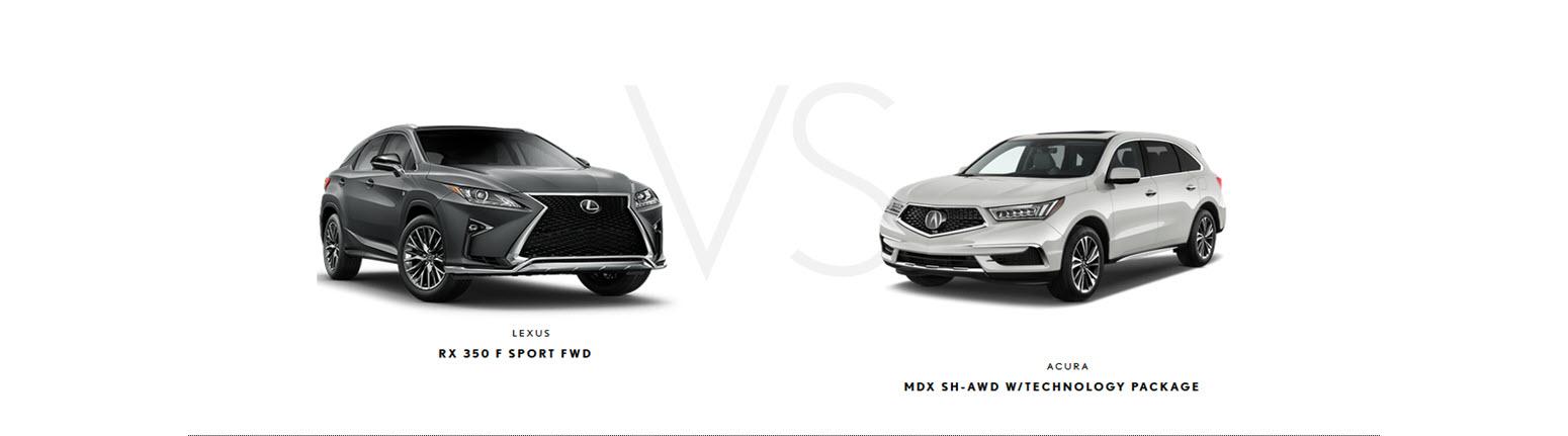 Lexus RX 350F Sport vs Acura MDX