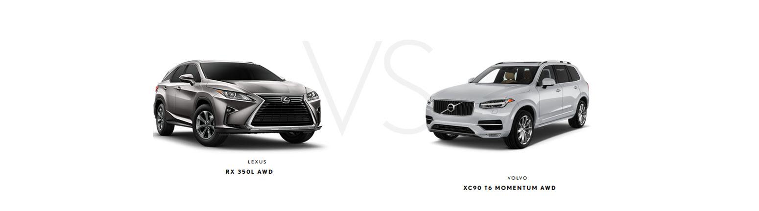 Lexus RX 350L vs Volvo XC90